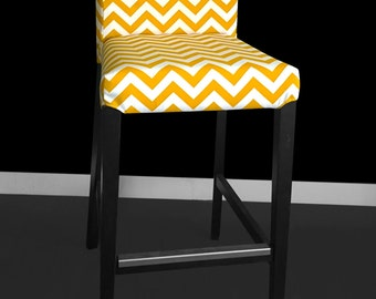 Gold Chevron HENRIKSDAL Bar Stool Chair Cover