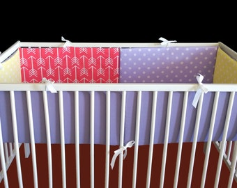 Arrows Polka Dot Nursery Cot Crib Bumper