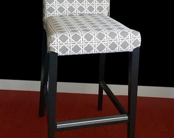 Beige Geometric IKEA HENRIKSDAL Bar Stool Chair Cover, Ready To Ship