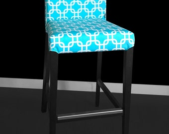 Turquoise IKEA HENRIKSDAL Bar Stool Chair Cover