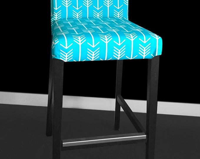 Blue Arrows IKEA HENRIKSDAL Bar Stool Chair Cover