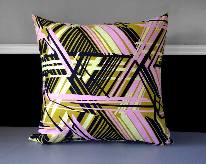 """Euro Extra Large Pink Trendy Pillow Covers 23"""" x 23"""", Ready to Ship"""
