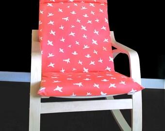 Bird Print IKEA POÄNG Cushion Chair Cover, Custom Ikea Seat Covers