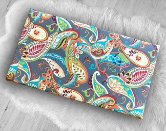 Colorful Paisley Print IKEA Hemmahos Bench Pad Slip Cover