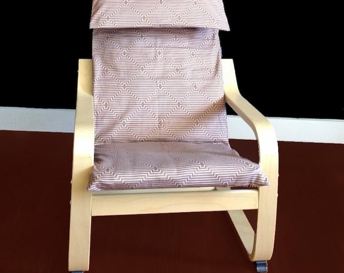 Brown Custom IKEA KIDS POÄNG Cushion Slipcover