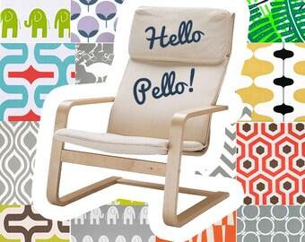 Custom IKEA PELLO Slip Cover, Multiple Prints