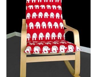 Elephant Custom IKEA POÄNG Cushion Chair Cover, Custom Ikea Slip Covers