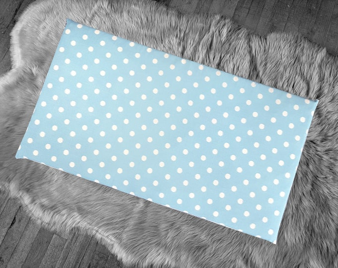 Blue Ikat Polka Dot, IKEA STUVA Bench Pad Slip Cover