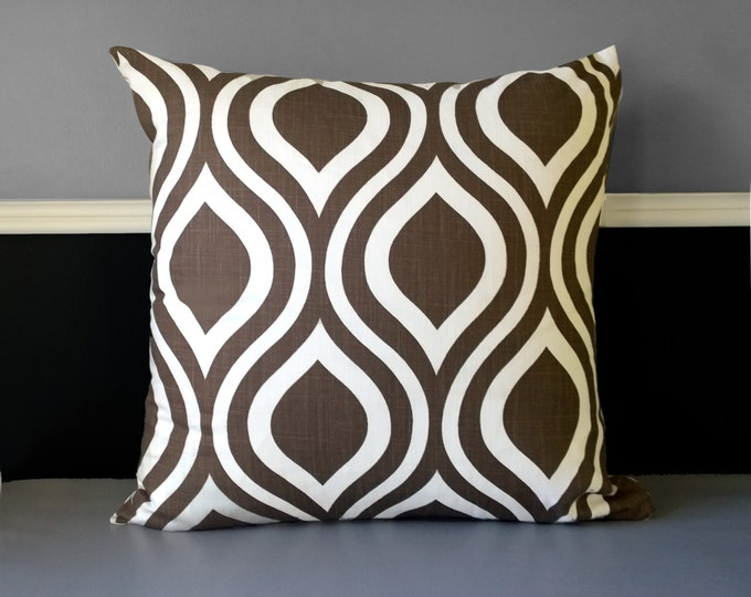 Retro Style Brown Pillow Cover