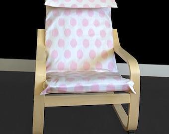 Girls Pink Polka Dot Ikea Poang Cover