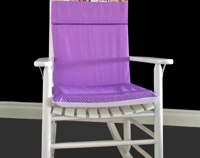 Purple Flower Dots Rocking Chair Cover