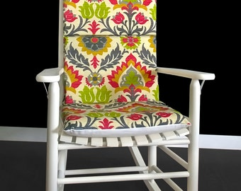 Vintage Flowers Rocking Chair Cover, Floral Print Cushion And Pads