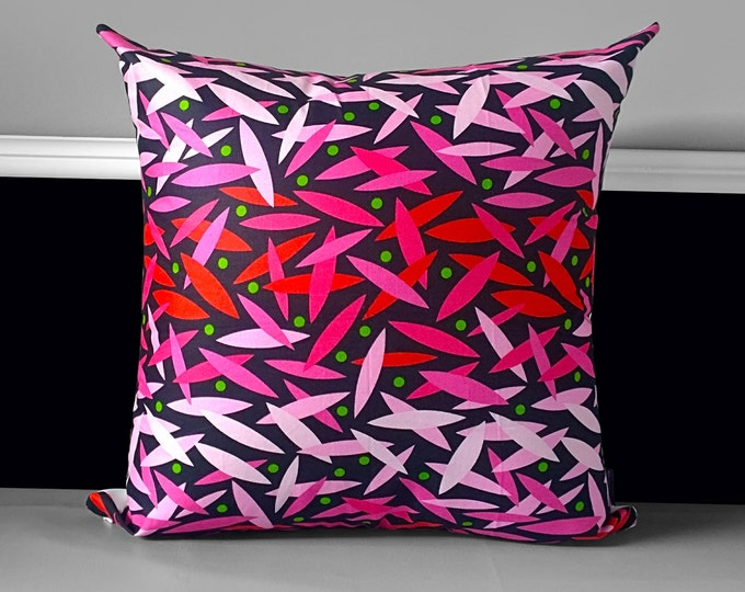 """Pink Black Sticks Pillow Cover 20"""" x 20"""", Ready to Ship"""