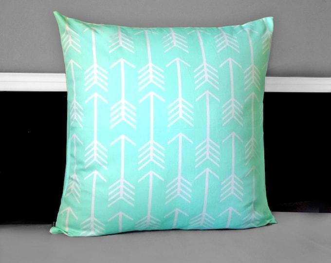 """Mint Arrow Pillow Cushion Cover 18"""""""