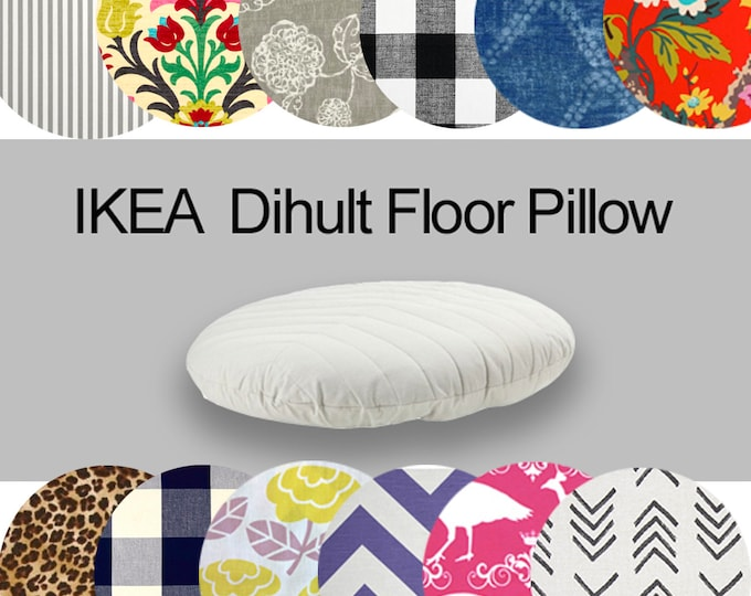 Custom Dihult Slipcover, Customized Ikea Floor Pillow Covers, Custom Ikea Beanbag Covers, Colorful Ikea Slipcovers, Ikea Dihult Dogbed