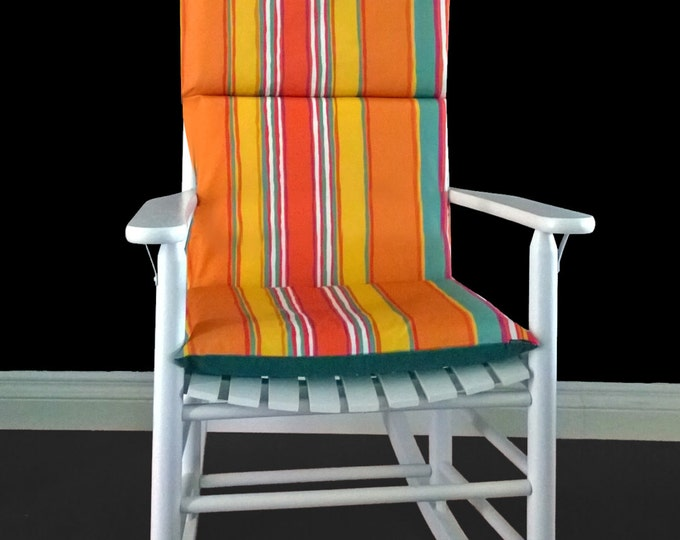 Stripe Pattern Rocking Chair Cover, Ready to Ship