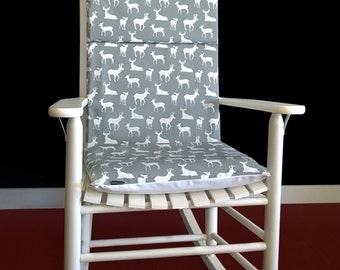 Deer Rocking Chair Cushion Cover, Forest Animals Pad