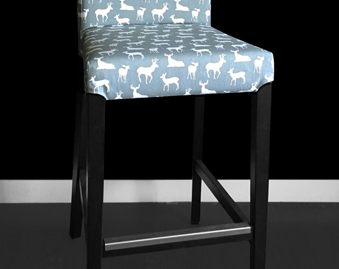 Deers IKEA HENRIKSDAL Stool Chair Cover, Deer Home Decor, Ikea Custom Covers, Unique Ikea Decor