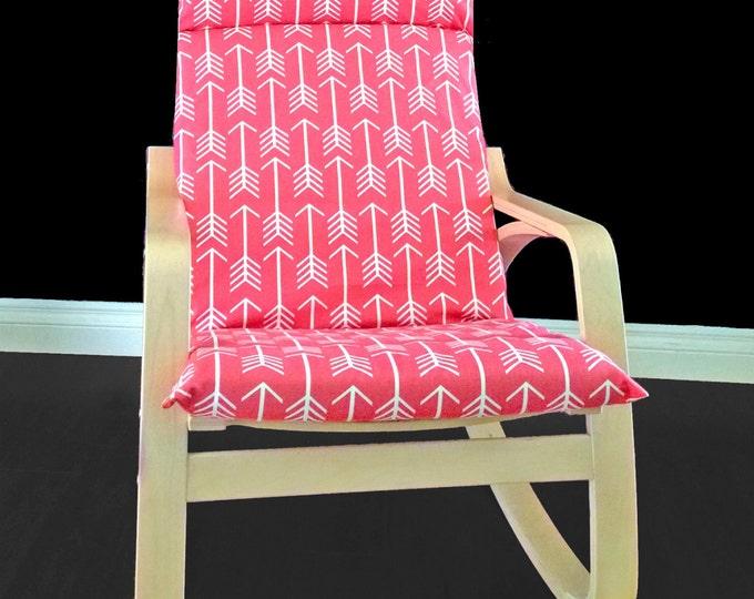 IKEA POÄNG Cushion Slipcover - Coral Arrows