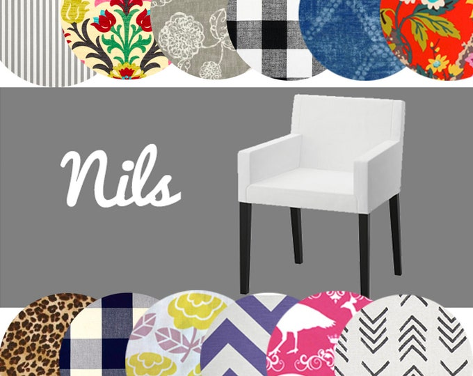 Unique IKEA NILS Slip Cover, Multiple Prints
