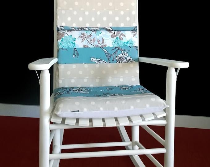 Vintage Flower Blossom Rocking Chair Cushion