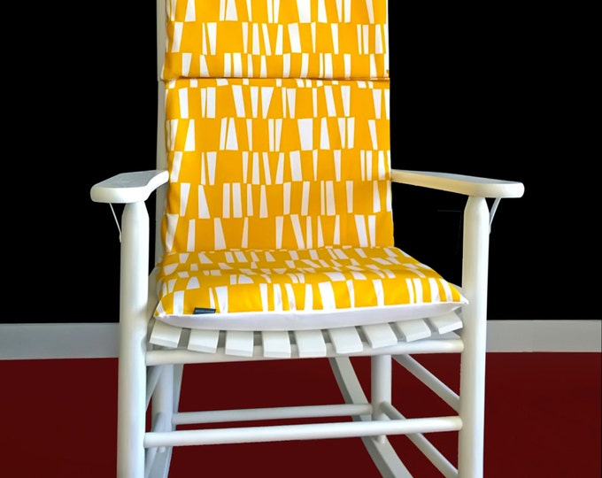 Yellow Bamboo Pattern Rocking Chair Cover