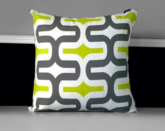 Green Brown Retro Pillow Cover