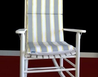 Gray Yellow Stripe Rocking Chair Pad
