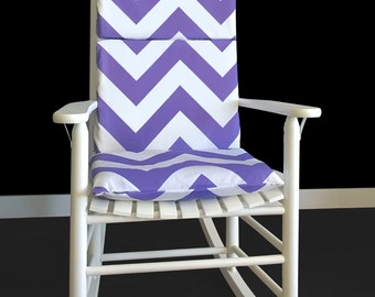 Bold Purple Chevron Rocking Chair Cover
