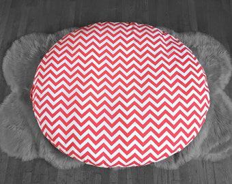 Custom Dihult Slipcover, Customized Ikea Floor Pillow Covers, Ikea Dihult Covers, Chevron