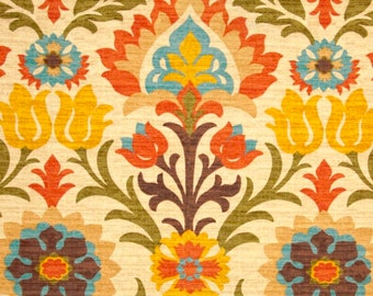 Orange Tones, Mexican Damask Floral Print, Santa Maria Adobe Custom Ikea Seat Covers