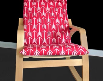 Red Arrows Poang Chair Cover