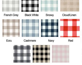 IKEA Furniture Covers, Seat Covers, Buffalo Check, Plaid, Gingham Farmhouse, Country Style