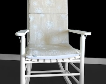 Dandelion Flower Rocking Chair Cover, Floral Seat Covers