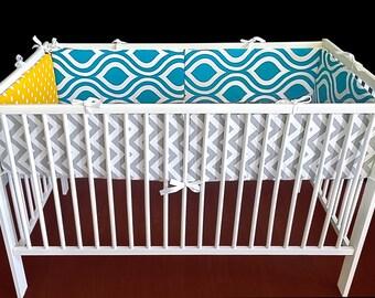 Colorful Pattern Cot Crib Bumper