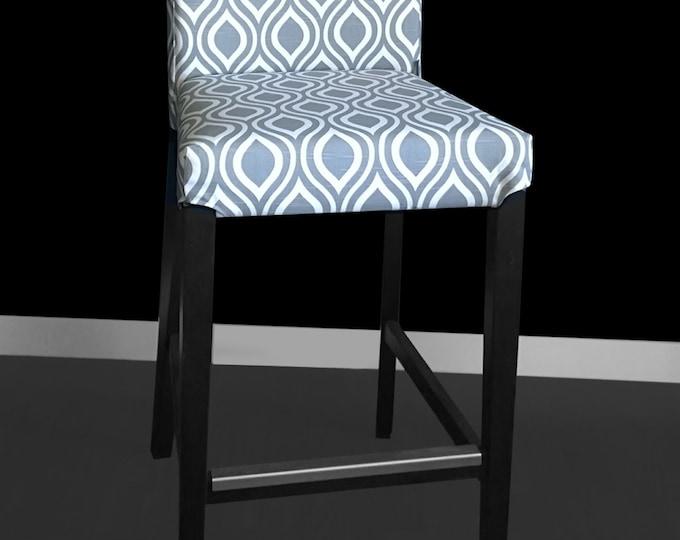 Gray Teardrop IKEA HENRIKSDAL Bar Stool Chair Cover