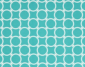 Turquoise Blue Circle Print, Indoor/ Outdoor Ikea Seat Slip Covers