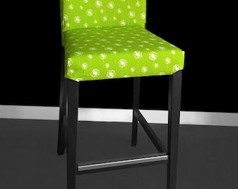 Green Dandelion HENRIKSDAL Bar Stool Chair Cover