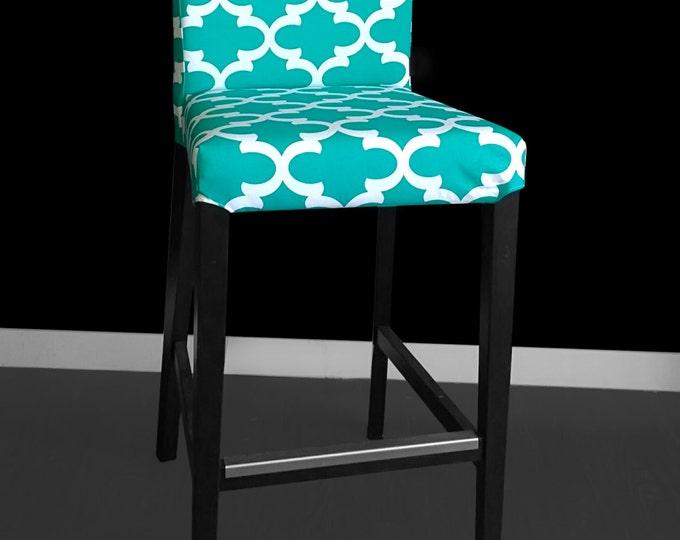 Blue IKEA HENRIKSDAL Bar Stool Chair Cover