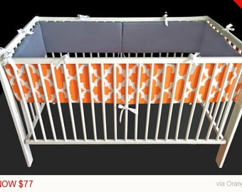 Orange Nursery Crib Cot Bumper