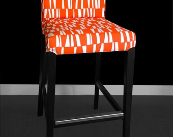 Funky Orange HENRIKSDAL Bar Stool Chair Cover