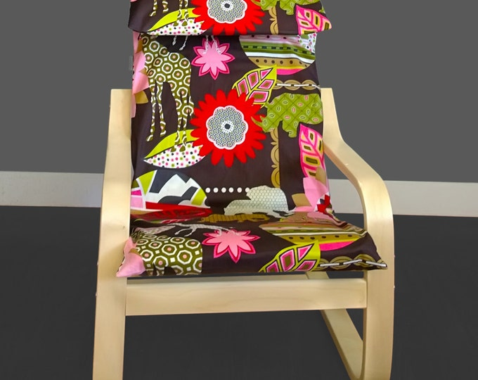 Flowers Animals Kids Ikea Poang Seat Cover, Ikea Nursery Room Decor