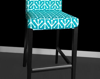Turquoise IKEA HENRIKSDAL Stool Chair Cover