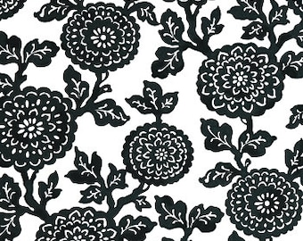 Dark Gray, Black White Floral Print IKEA Chair Covers, Slip Covers, Indoor Outdoor Fabric