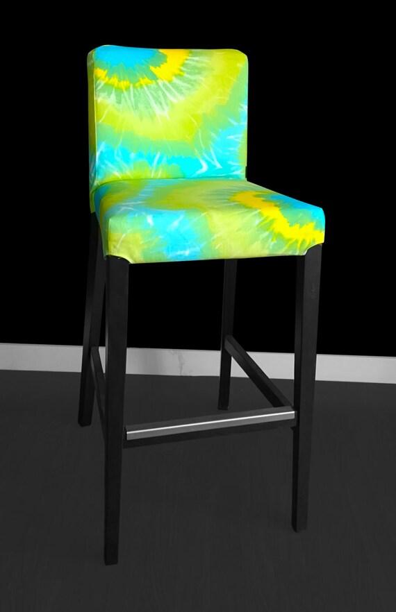 Groovy Tie Dye Ikea Bar Stool Cover Hippie Style Henriksdal Cover Psychedelic Ikea Covers Creativecarmelina Interior Chair Design Creativecarmelinacom