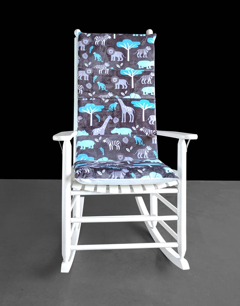 Terrific Safari Animals Rocking Chair Pads Foam Inserts And Covers For Rocking Chair Ready To Ship Uwap Interior Chair Design Uwaporg
