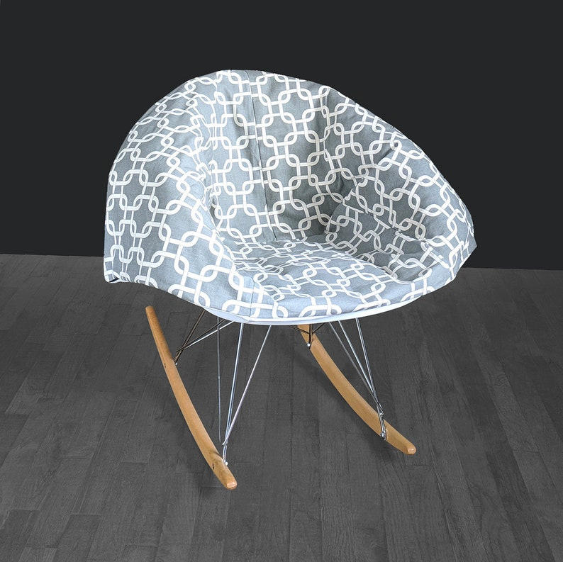 Stupendous Grey Patterned Eames Rocking Chair Pad Creativecarmelina Interior Chair Design Creativecarmelinacom