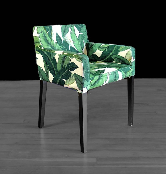 Awesome Ikea Nils Chair Slip Cover Green Jungle Tropical Print Outdoor Custom Furniture Prints Tommy Bahama Pdpeps Interior Chair Design Pdpepsorg
