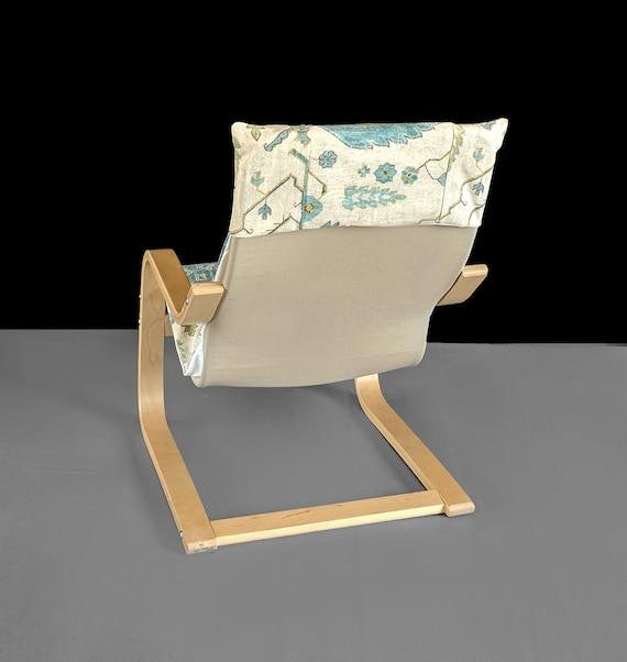 Amazing Childrens Ikea Poang Chair Cover Blue Gray Indian Print Inzonedesignstudio Interior Chair Design Inzonedesignstudiocom