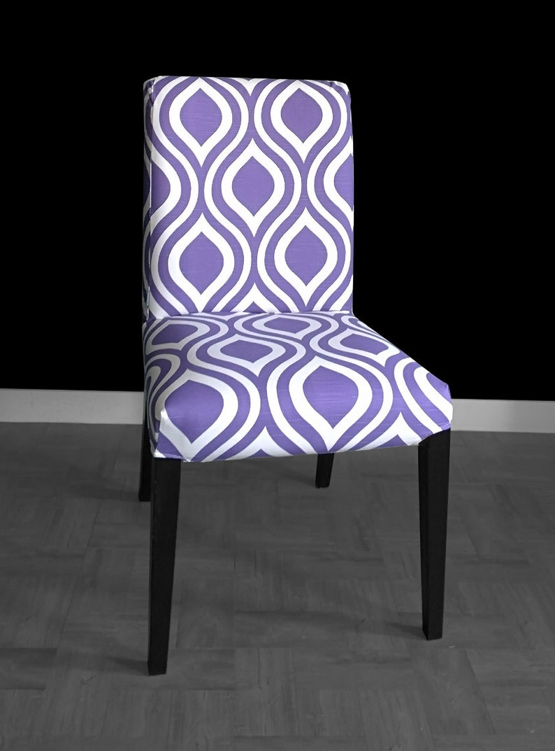 image 0 ... & PAIR Purple Indian Style IKEA HENRIKSDAL Dining Chair Covers | Etsy